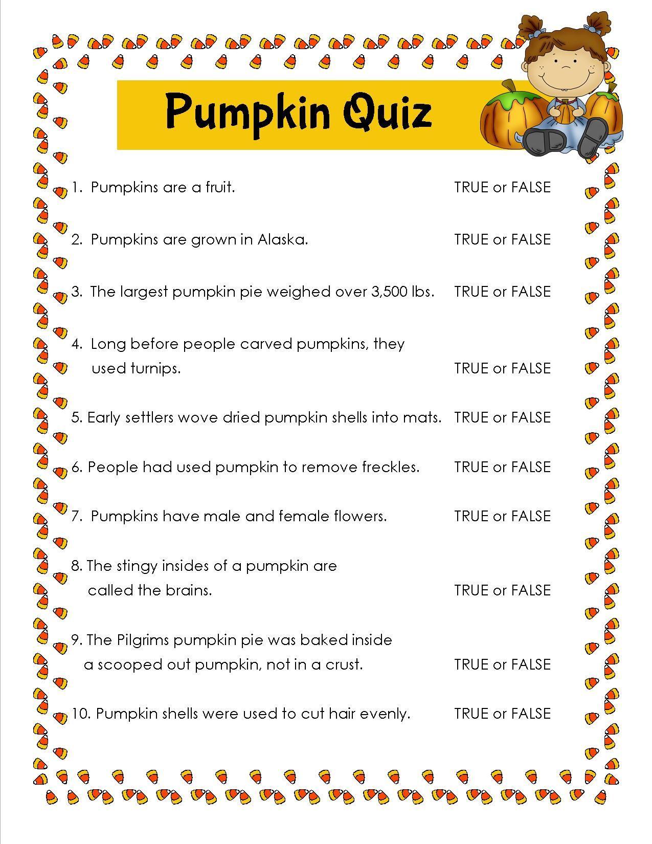 Pumpkin Quiz Halloween facts, Halloween quiz, Halloween