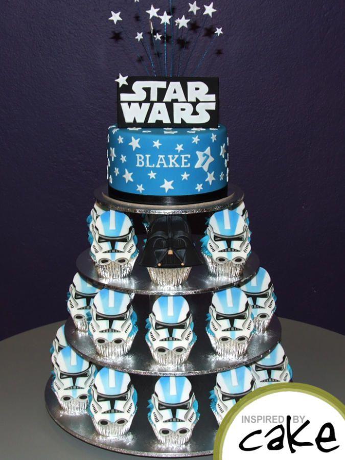 Fondant Star Wars Storm Trooper birthday cake Childrens Cakes