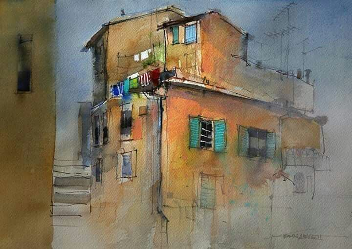 John Lovett John Lovett Watercolor Architecture Watercolour