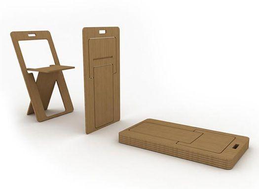 Sheetseat Minimalist Flat Folding Chairs