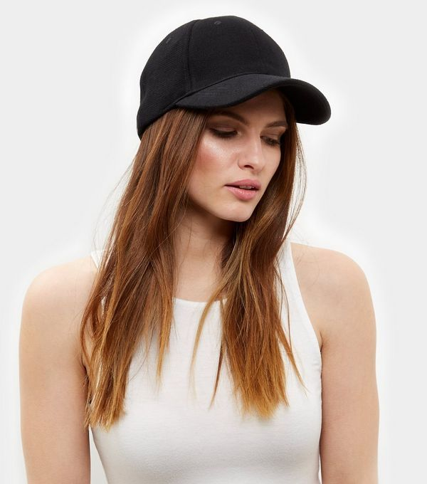 Black Mesh Cap  | New Look