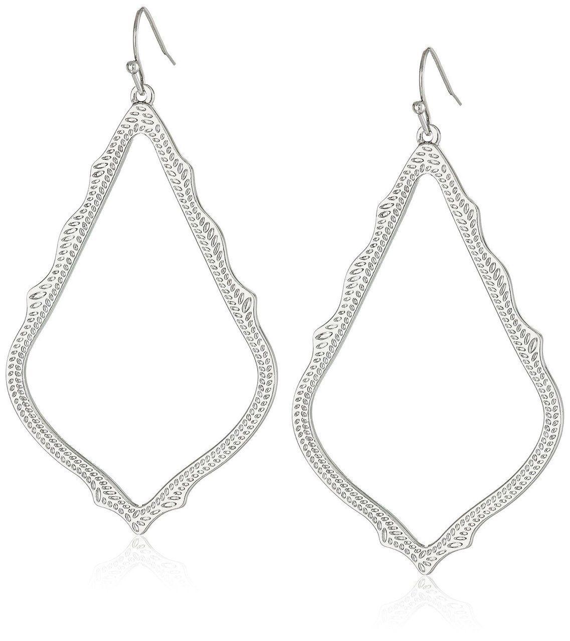Kendra Scott Silver Sophee Drop Earring - Holly & Brooks #shophollyandbrooks #kendrascott #simplejewelry