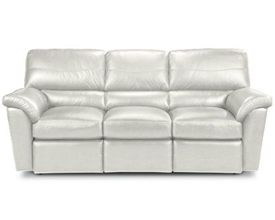 White Reese La Z Time Full Reclining Sofa By La Z Boy Living Room