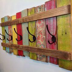 Reclaimed wood art wardrobe, hangers, rustic wardrobe, bathroom towel rack, farmhouse coat rack, wood coat rack, 33