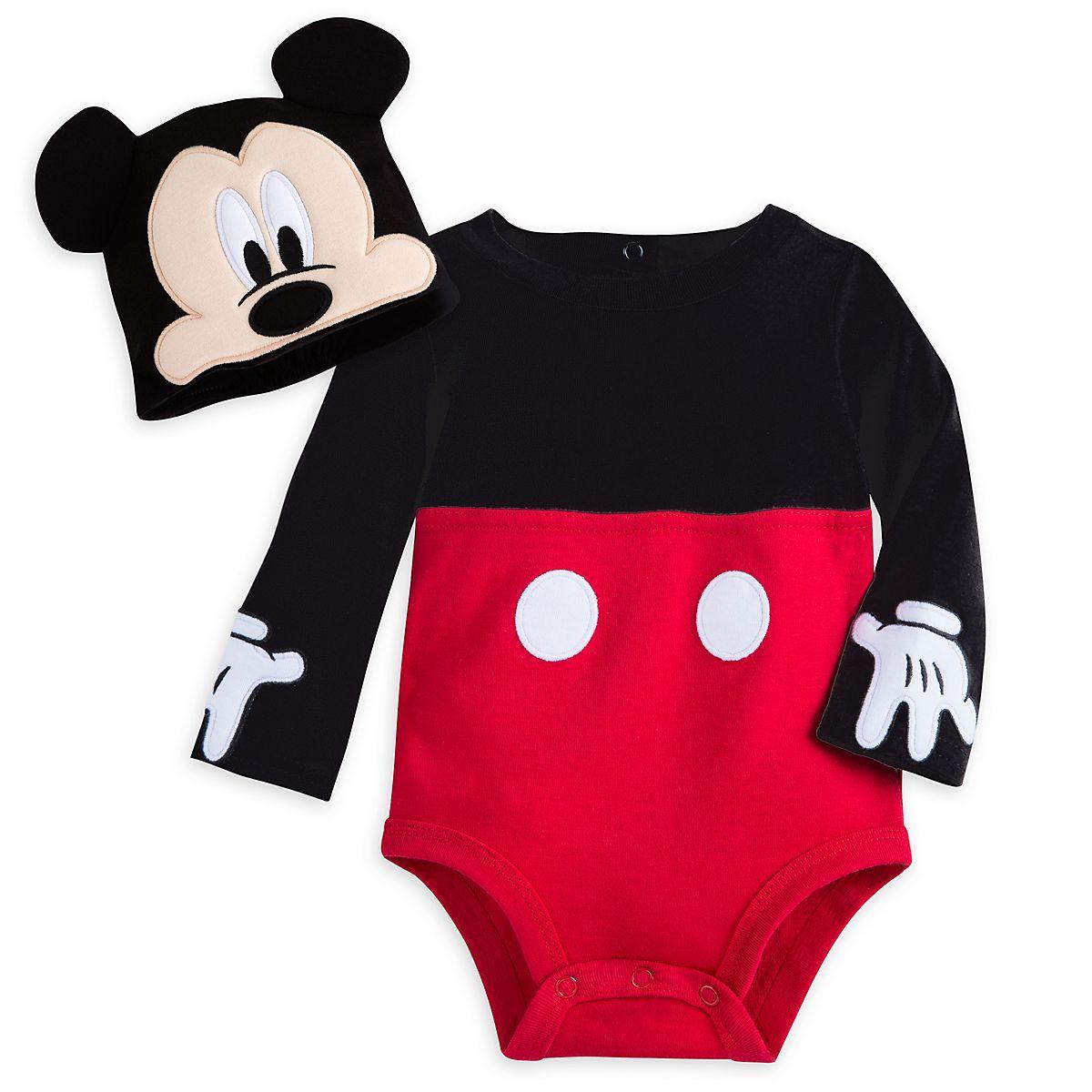 Disney Parks Mickey Mouse Tuxedo Costume Baby Bodysuit Halloween Dress Up Boy
