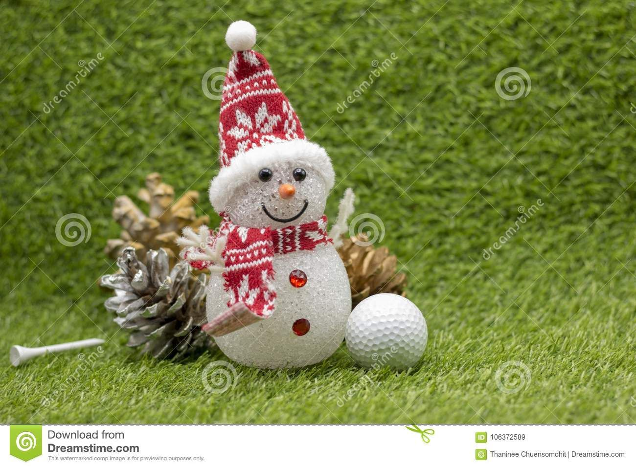 Snowman With Golf Ball On Christms Holiday Golf Ball Crafts Xmas Crafts Golf Ball