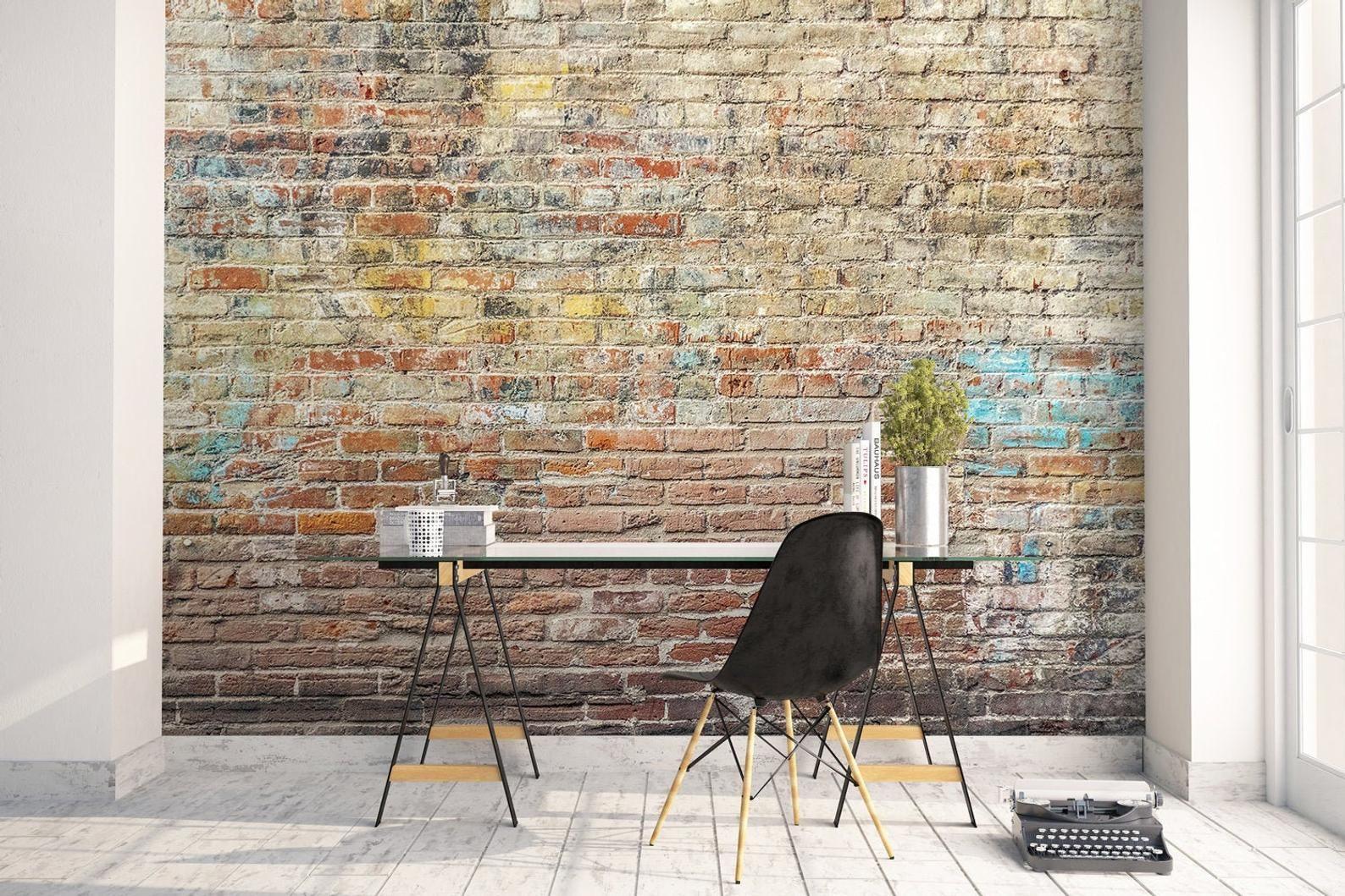 Peel And Stick Self Adhesive Faux Brick Wallpaper Removable Etsy In 2020 Faux Brick Wallpaper Removable Brick Wallpaper Brick Wallpaper