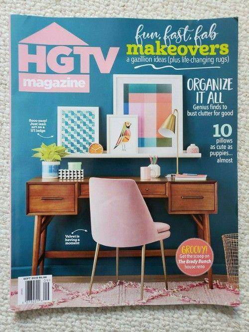 $7.99 HGTV Magazine September 2019 The Brady Bunch House Renovation #vintagemagazine #backissue #magazines #bradybunchhouse