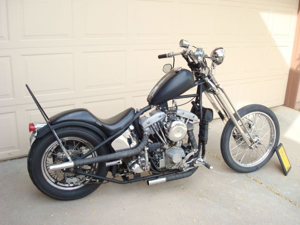 70 Shovel Head - Paughco Wishbone Riged Frame - Paughco springer ...