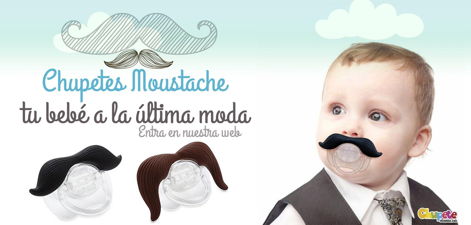 Chupetes con bigote! Disponibles tetina 6/36 anatómica de silicona ...