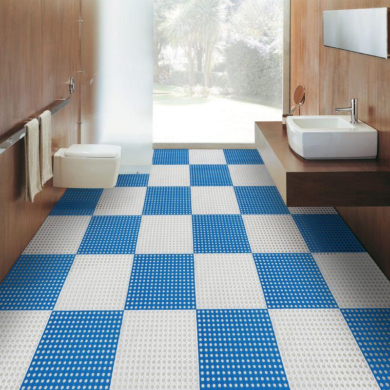 30x30 Bath Mat Balcony Waterproof Pad Stitching Toilet Bath Mat Toilet Bath Mat Waterproof Pad Home Decor