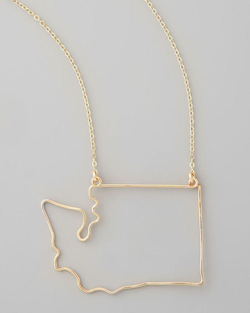 Silver washington state pendant necklace pendants delicate and washington state pendant 98 at favery aloadofball Gallery