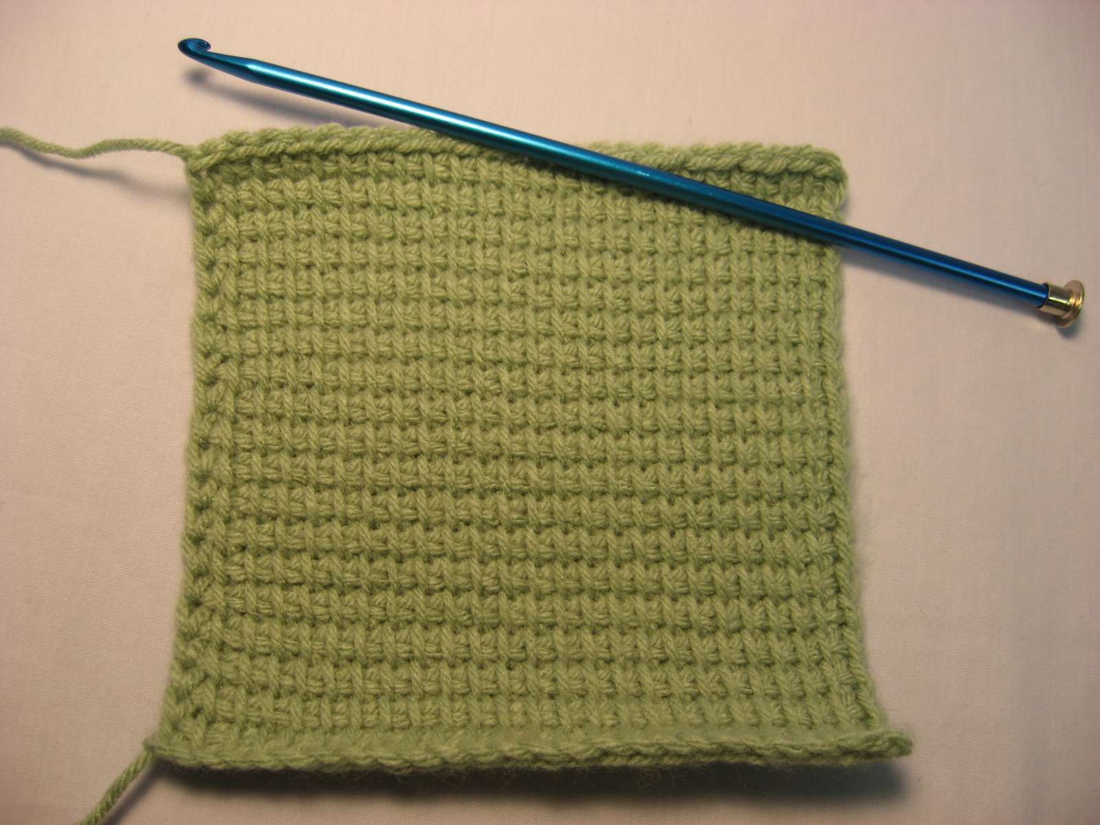 The Laughing Willow: Seaming Tunisian knit stitch and a free pattern ...