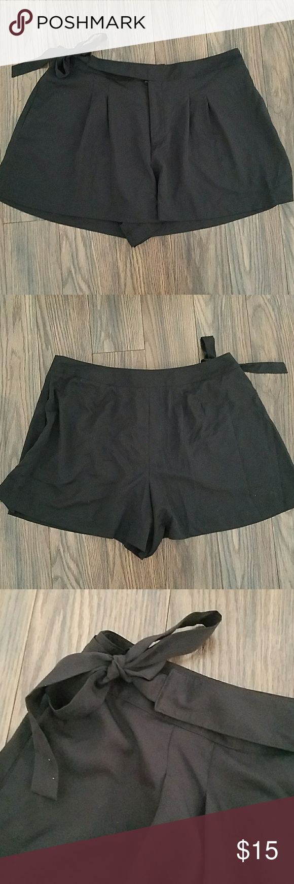 Super Cute Black Dress Shorts With Side Bow Cute Black Dress Black Short Dress Short Dresses [ 1740 x 580 Pixel ]