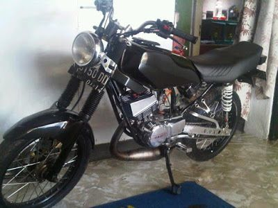 Fotogambar Modifikasi Motor Rx King Warna Hitam Yamaha