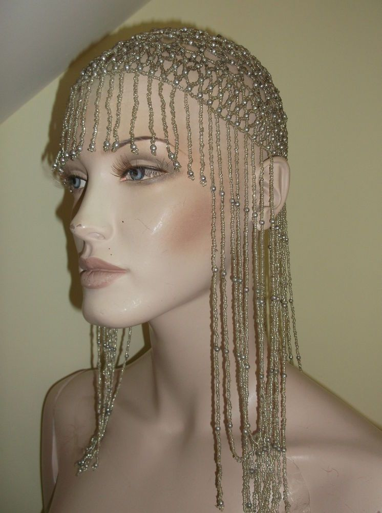 186b804b714 VINTAGE BEADED SKULLCAP HAT HAIR 1920s FLAPPER PARTY FANCY DRESS. Find this  Pin and more ...