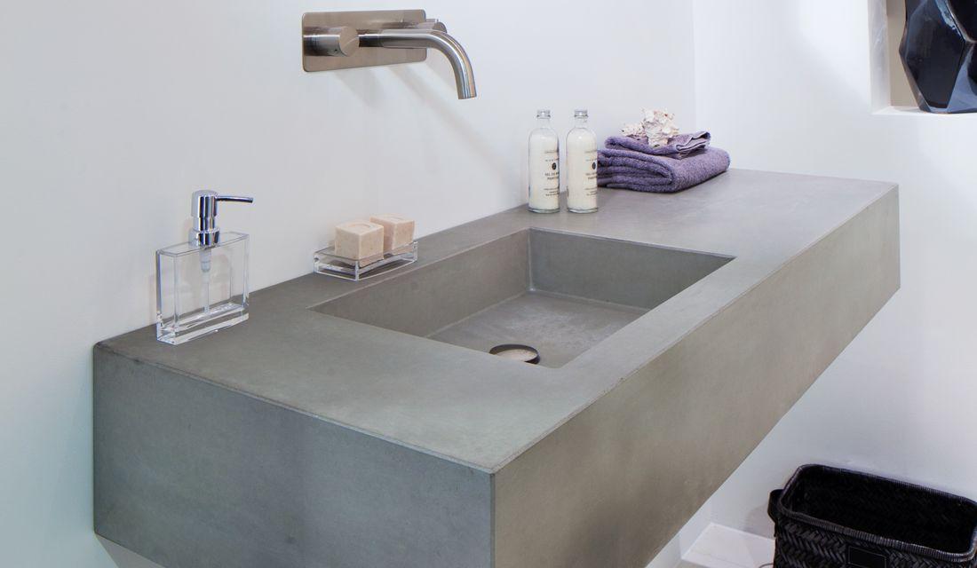 beton wastafel ferro brugman badkamer pinterest