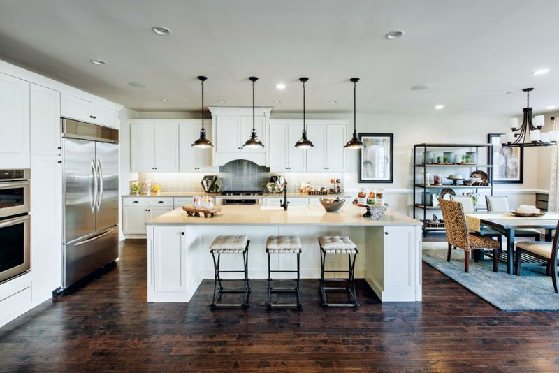 An open concept kitchen (Toll Brothers at Liseter, PA) Kitchens