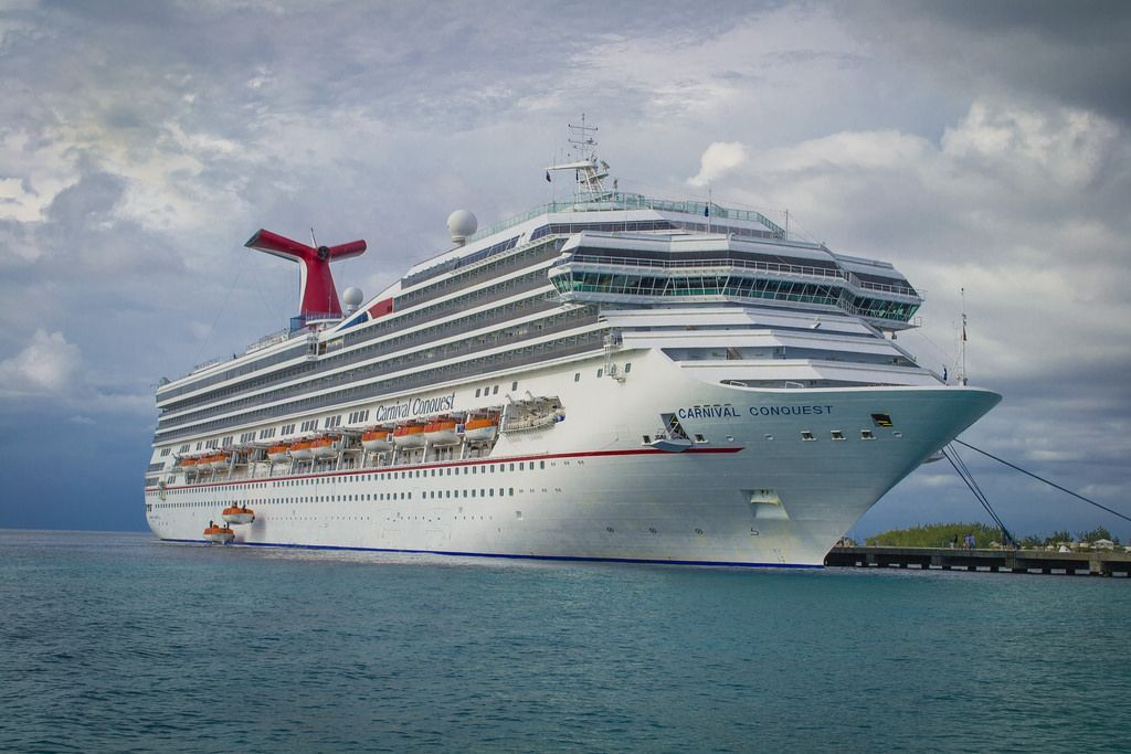 Carnival Conquest Docked in Grand Turk