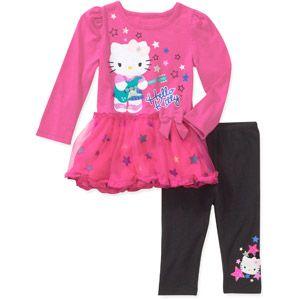 Hello Kitty Girls 2 Piece Legging Set
