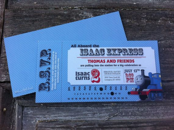 Thomas the Train    Ticket invitations    Printable Ticket - printable ticket invitations