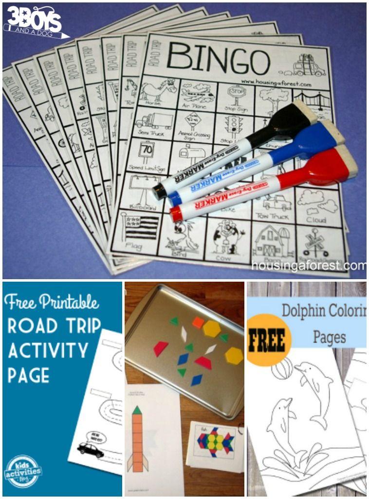 Road Trip Printable Activities for Kids Road trip