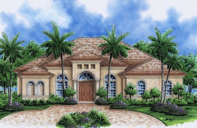 High Quality Florida One Story House Designs | Luxury Mediterranean Home Plans U0026 5  Bedroom House Plans With Photos | CREATIVE ARCHITECTURE | Pinterest | Story  House, ... Part 23