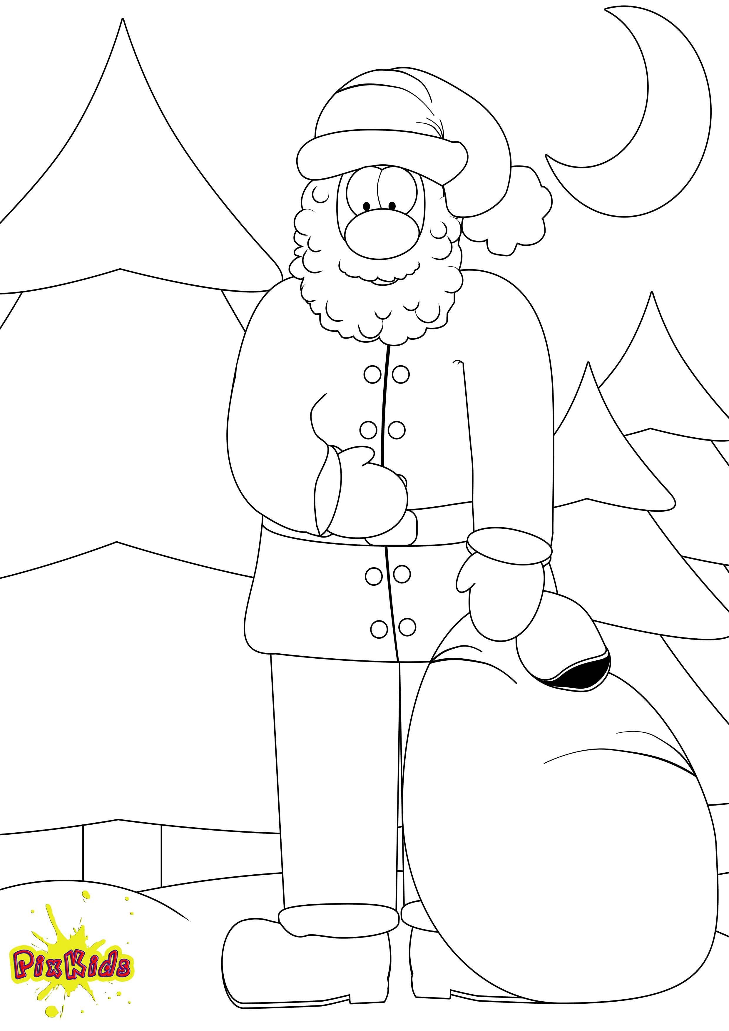weihnachtsmann als malvorlage httpswwwausmalbilderco
