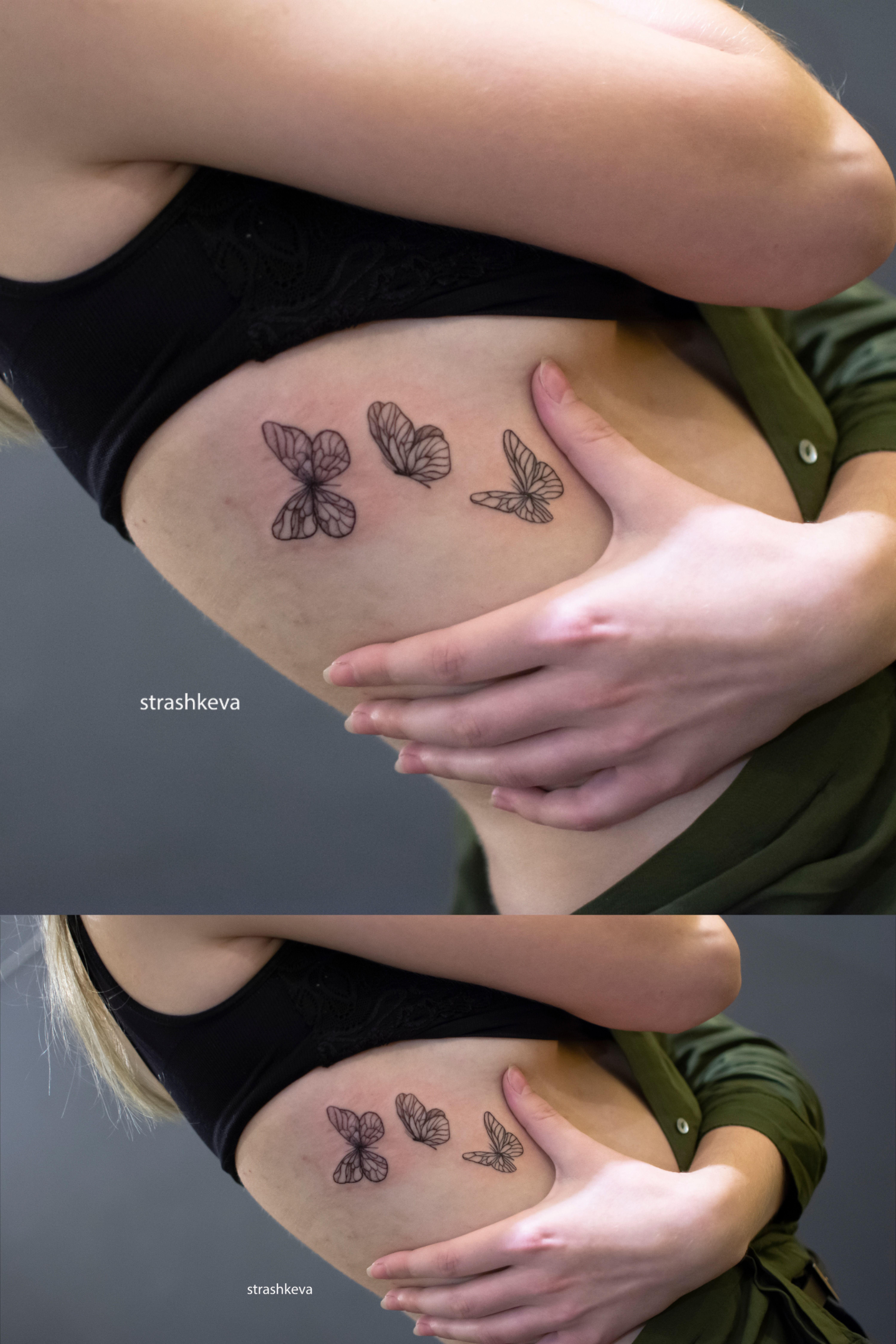 Kobiecy Tatuaz Motyli Wykonany Strashkeva Tattoo Matching Tattoos Paw Print Tattoo Print Tattoos