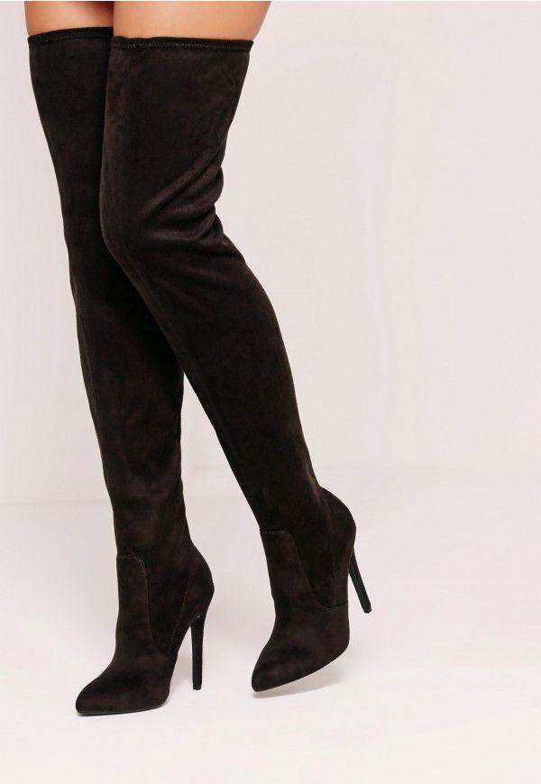 4846a191cf3 Trouvez chaussure à votre pied avec ces cuissardes noires en suédine à  tomber.