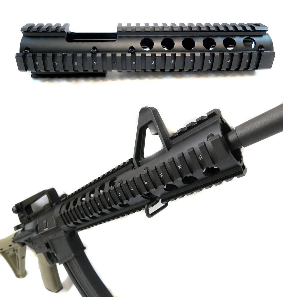 AR-15 Extended Quad Rail Handguard With FSP Cutout