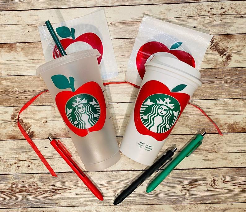 Teacher Starbucks SVG Bundle Instant Download Cold Cup