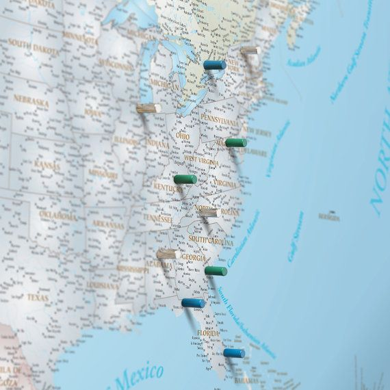 North america magnetic push pin travel map pushpin map us map north america pushpin travel map magnetic map art by wallartmaps gumiabroncs Gallery