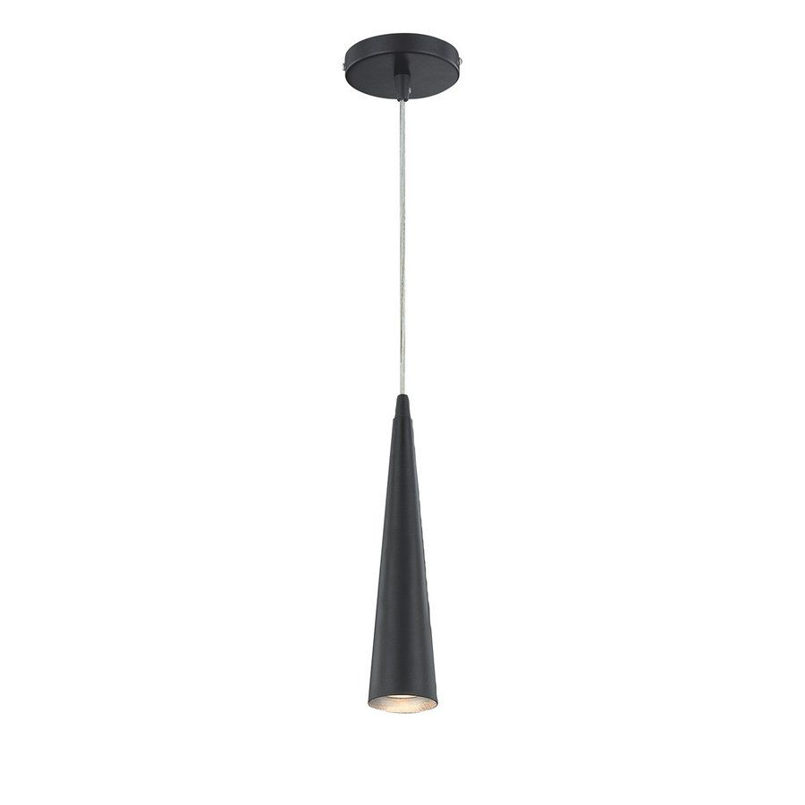 Lowes Pendant Lighting Magnificent Shop Eurofase 275In W Black Mini Pendant Light With Shade At Lowes 2018