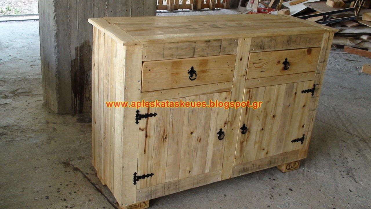 Pallet Sideboard By Alex Moveis Rusticos Paletes E Palets