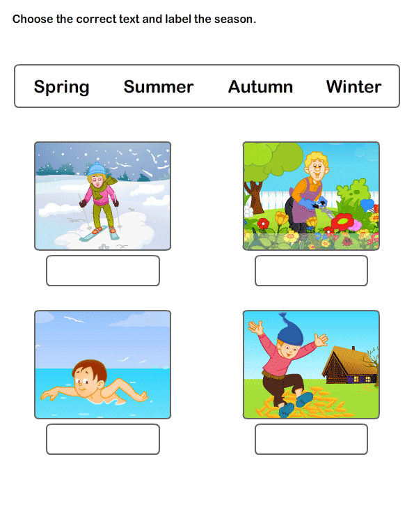 Seasons Worksheet 4 science Worksheets kindergarten Worksheets – Season Worksheets for Kindergarten