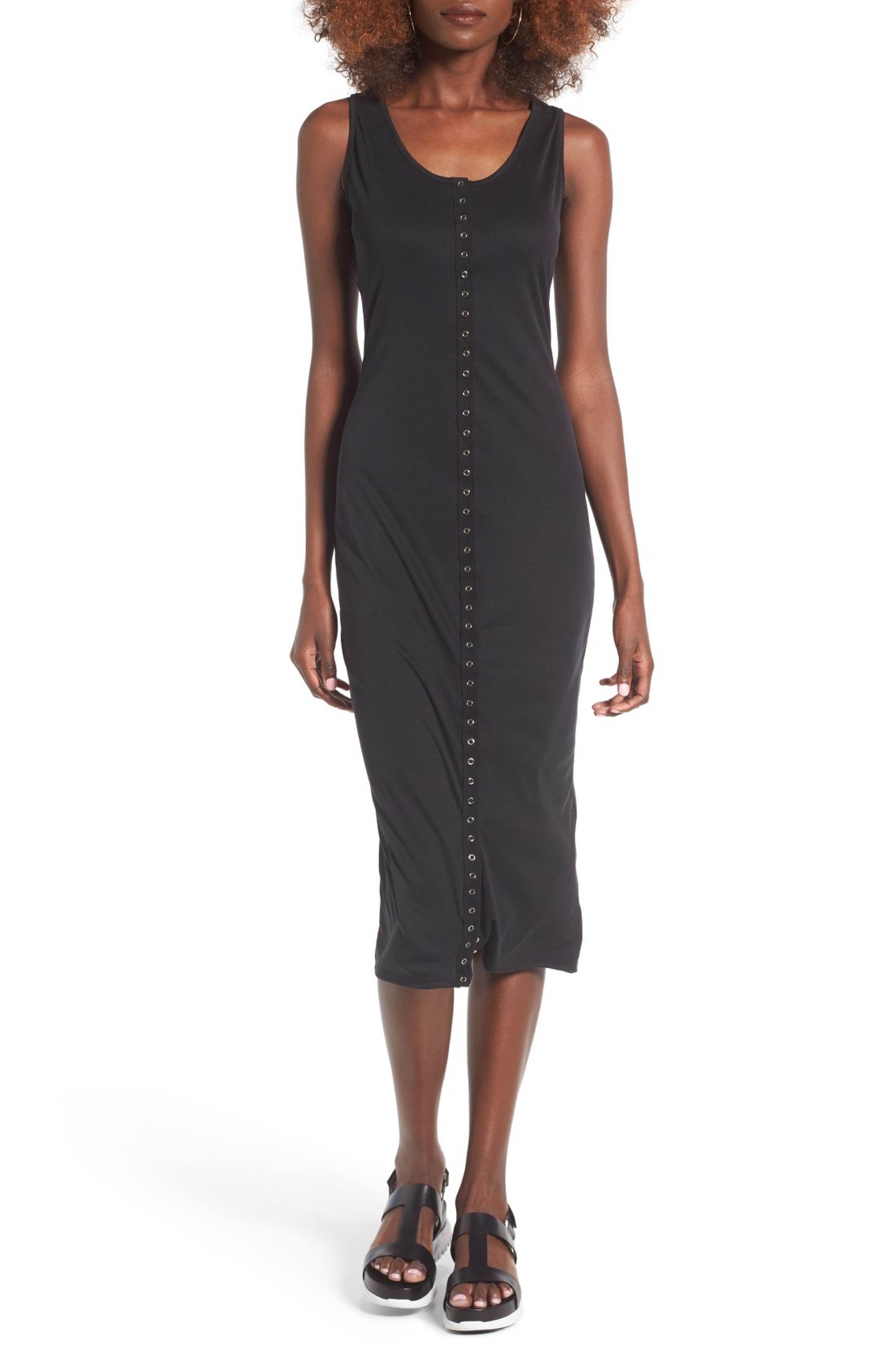 Main Image - BP. Snap Front Midi Dress