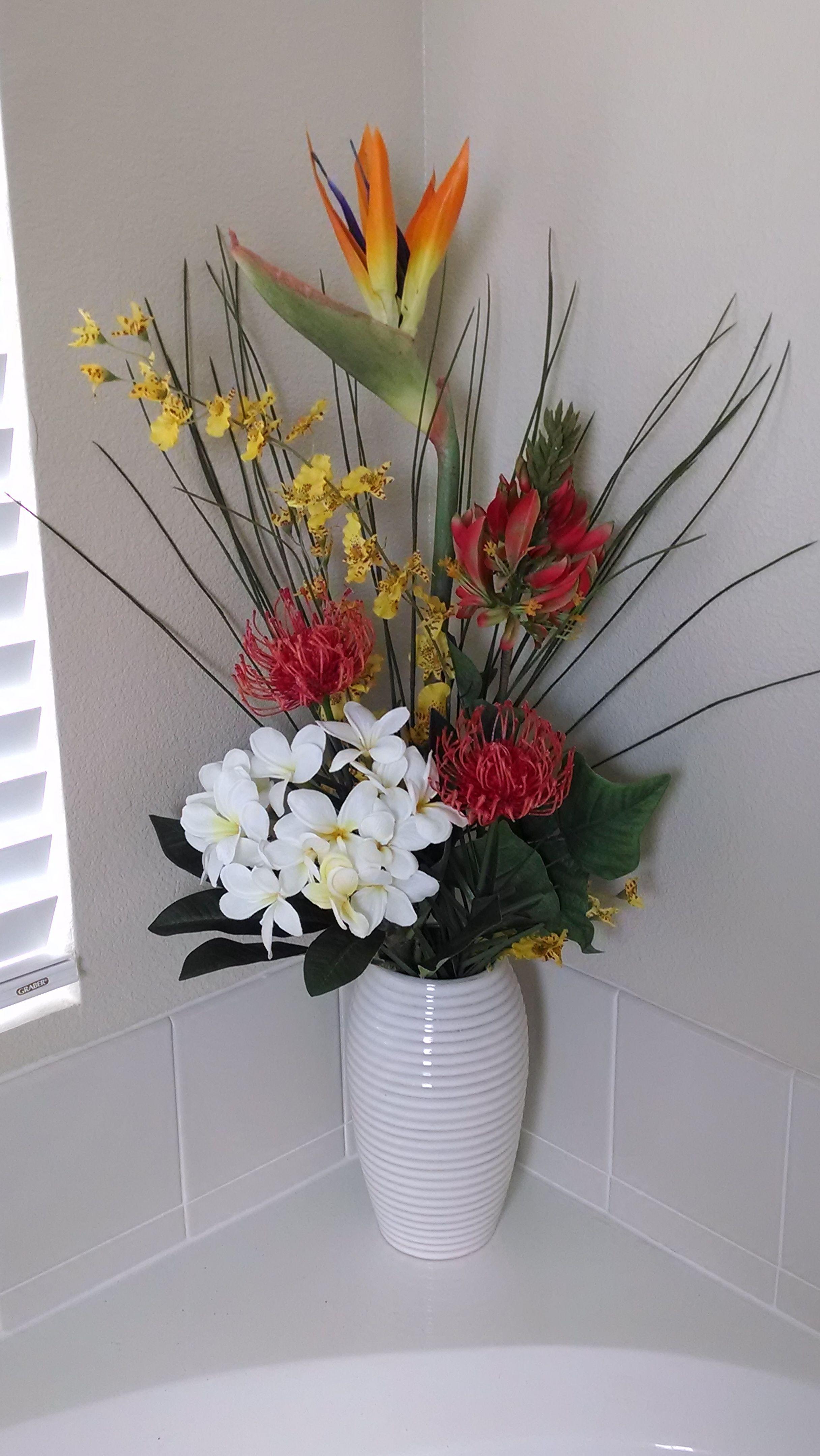 Tropical Arrangement Silk Flower Arrangements Pinterest Silk