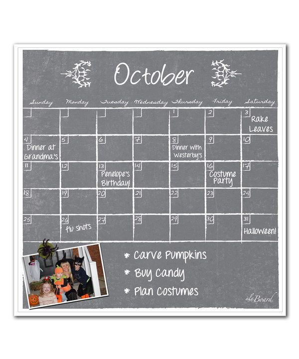 Look at this a'la Board Gray Dry-Erase Magnetic Calendar on #zulily today!