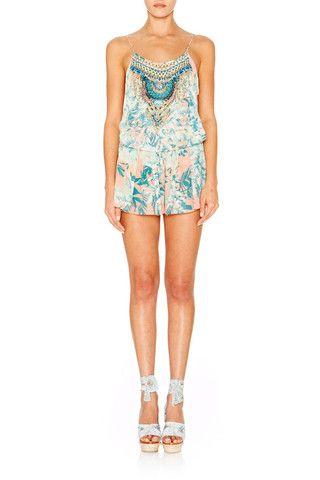 286f1d31e3 Camilla Garden of Dreams Shoestring Playsuit - Size 2