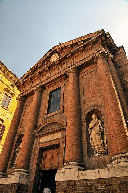Church near Palazzo Salimbeni, Siena, Italy