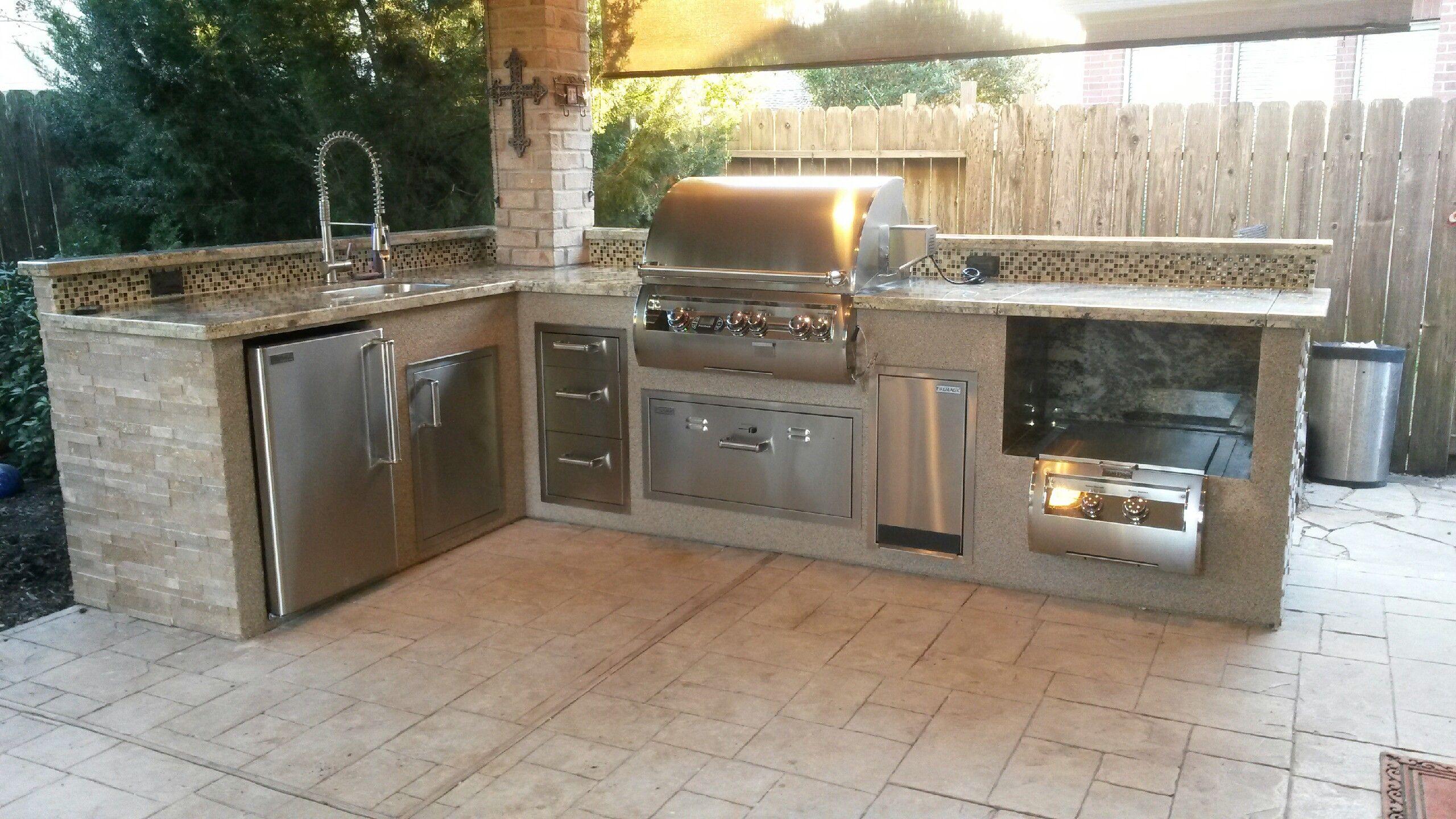 Outdoor Kitchen By Increte Of Houston Fire Magic Appliances Grill Kuche Kuche