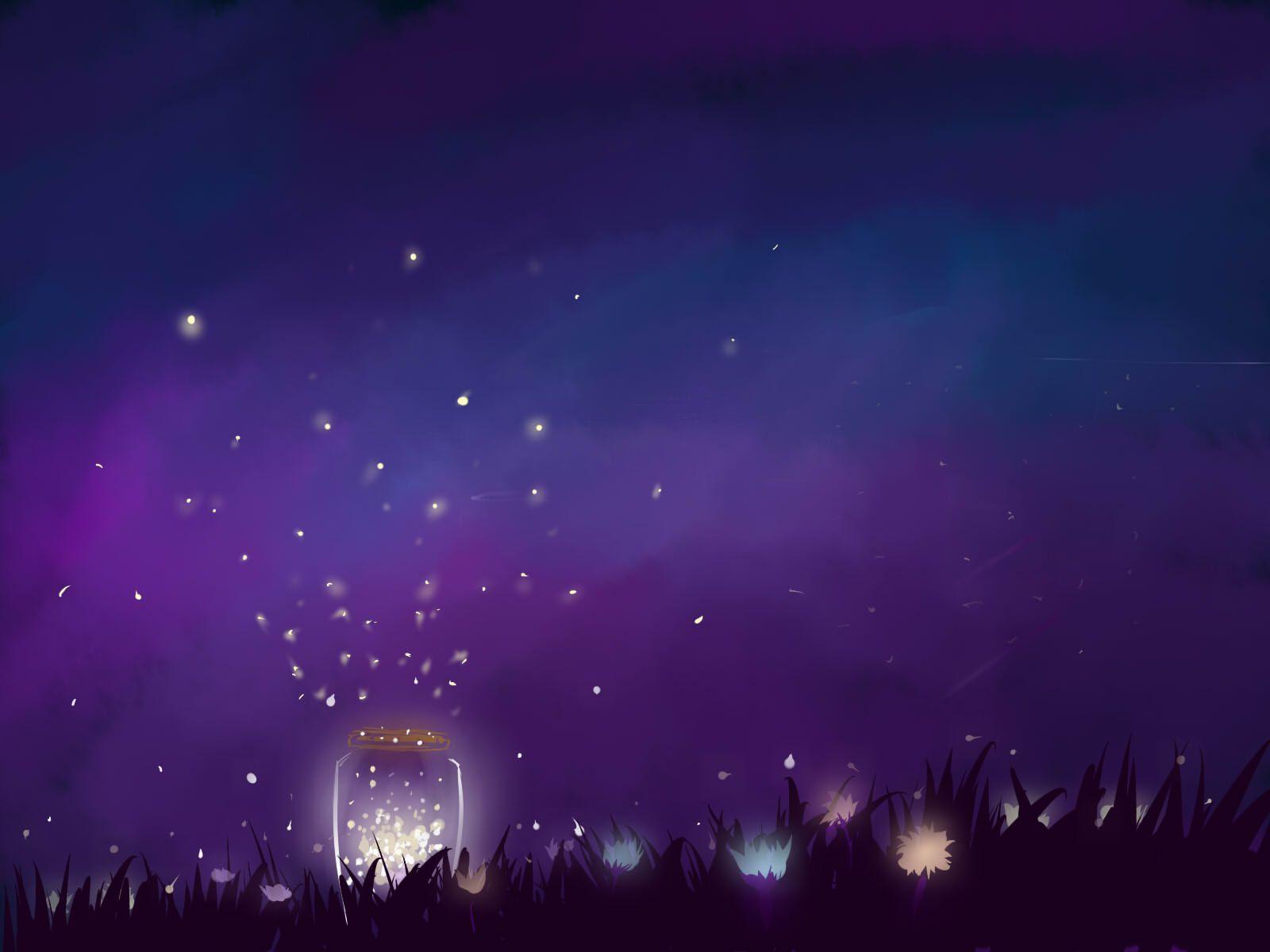 Image For Fireflies In A Jar Wallpaper