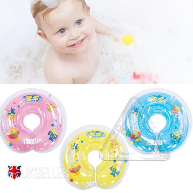 Baby swimming neck #float infant bath ring adjustable #safety aids 0 ...