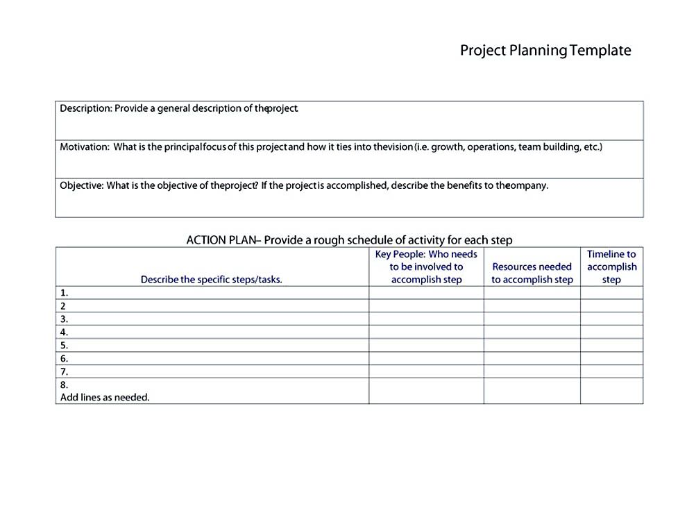 project budget plan template