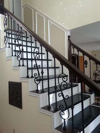 Stair Parts 44 In X 1 2 In Satin Black Single Knuckle Metal | Modern Stair Railing Home Depot | Iron Stair | Deck Railing | Railing Kits | Cable Railing Systems | Railing Designs