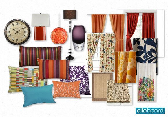 colorful accents for a living room