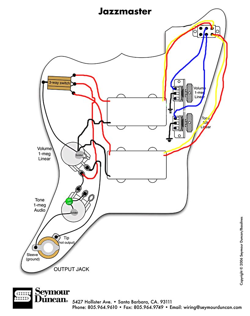 Fender Jaguar Bas Wiring Kit