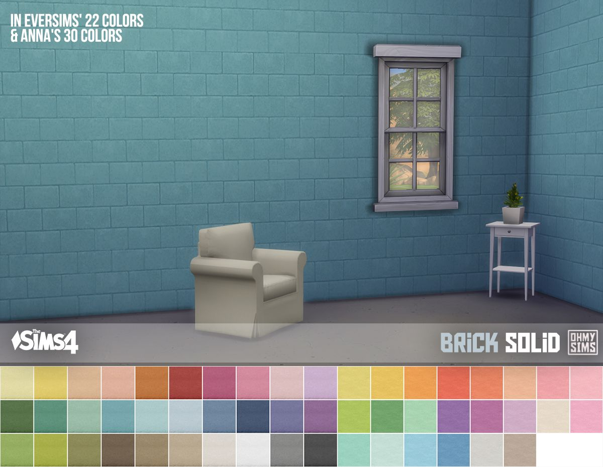 This wall is a part of the White Tiles wall set. It has two recolors ...
