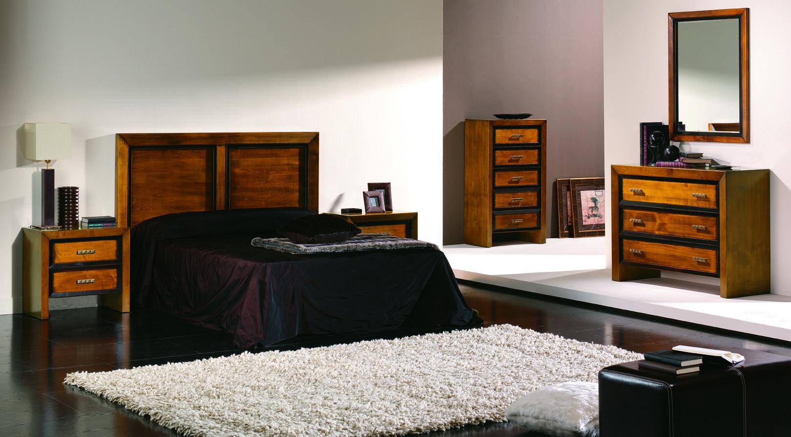 Dormitorio clasico contemporaneo modelo japon en madera for Muebles de dormitorio contemporaneo